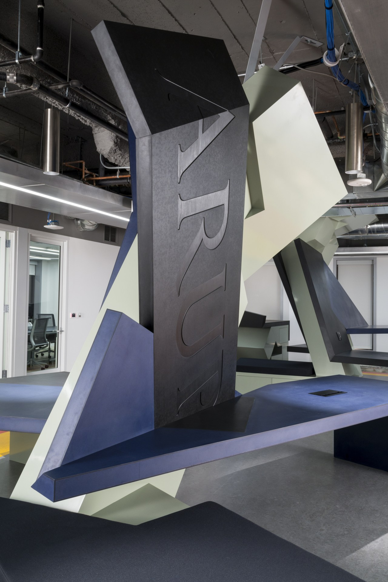 In the satellite Arup office in downtown LA architecture, product design, structure, black, gray