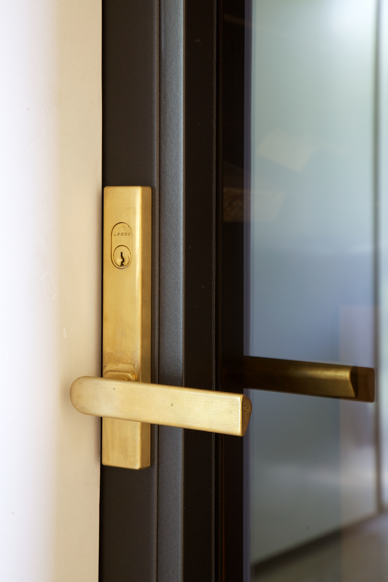 For this project, Chants brass tri-handles, selected by product design, gray, black