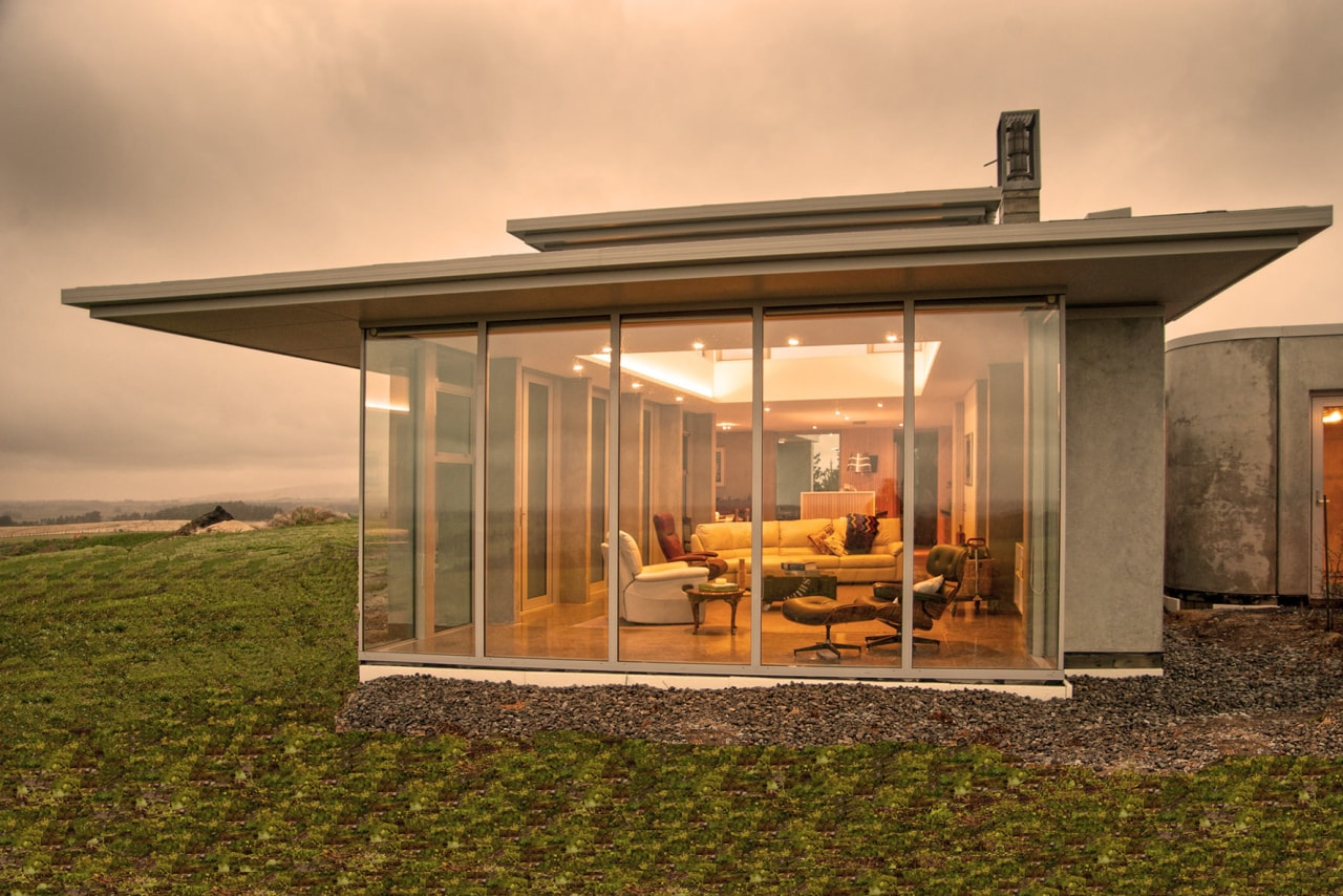 No matter what the weather outdoors, the interior home, house, real estate, brown, orange