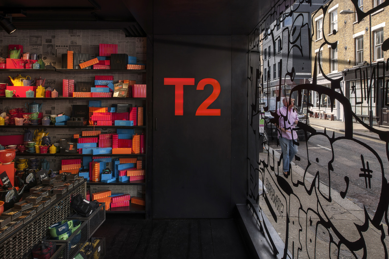 The new T2 store in Shoreditch London highlights black