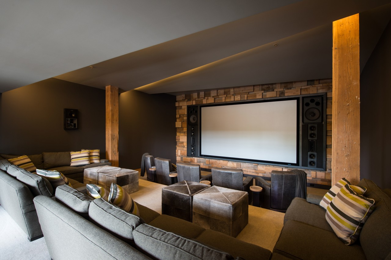 In this converted heritage building, entertainment facilities, including architecture, interior design, black, brown