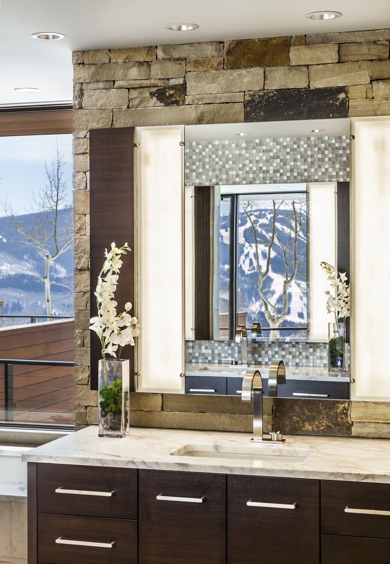 Contrasting textures and natural materials feature throughout this cabinetry, countertop, home, interior design, window, white