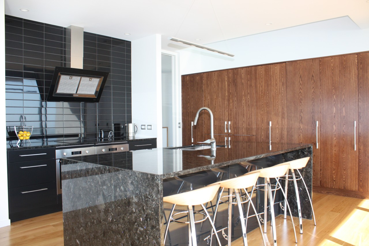 The kitchen cabinetry in this house by Archimetrix countertop, interior design, kitchen, real estate, room, white