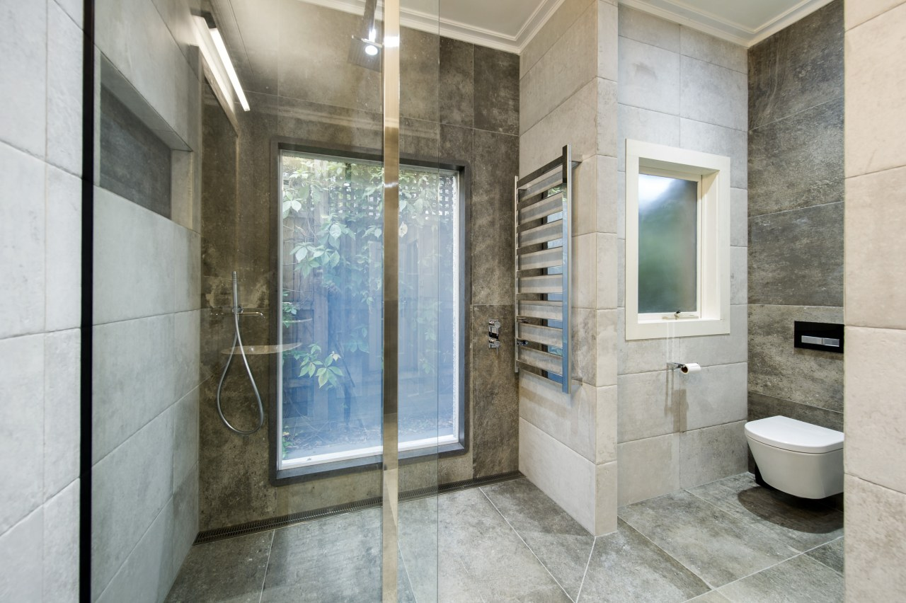 No comfort spared  unseen luxurious touches in bathroom, estate, floor, interior design, real estate, room, tile, gray