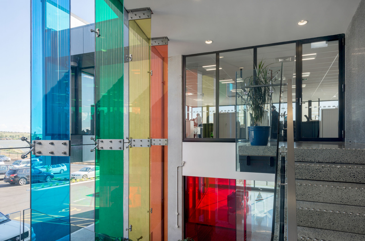 Metro Performance Glasss new premises has entrances to apartment, architecture, door, glass, house, interior design, real estate, window, gray