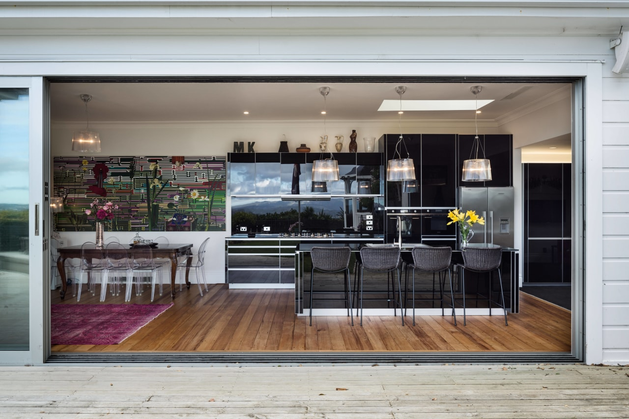 Inside out this kitchen sits directly opposite stacker interior design, kitchen, gray