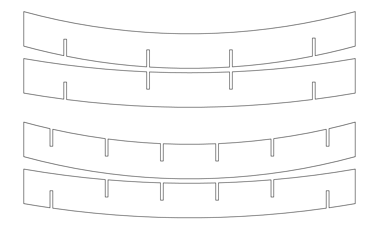 These 2d plywood pieces come to 3D life angle, area, black and white, circle, design, font, line, line art, material, pattern, product design, white, white
