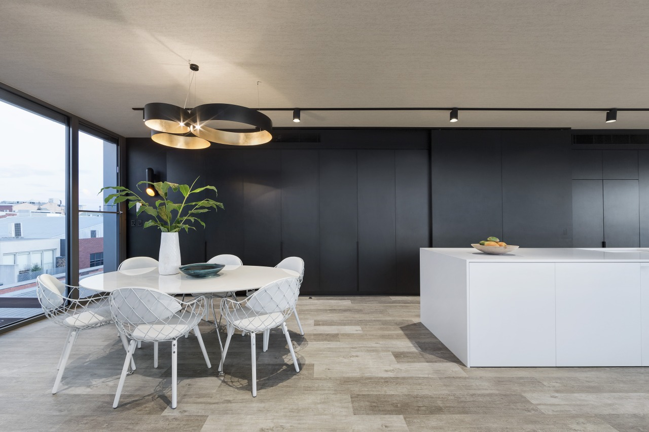 With one aspect of the apartment built out architecture, ceiling, floor, house, interior design, product design, table, gray