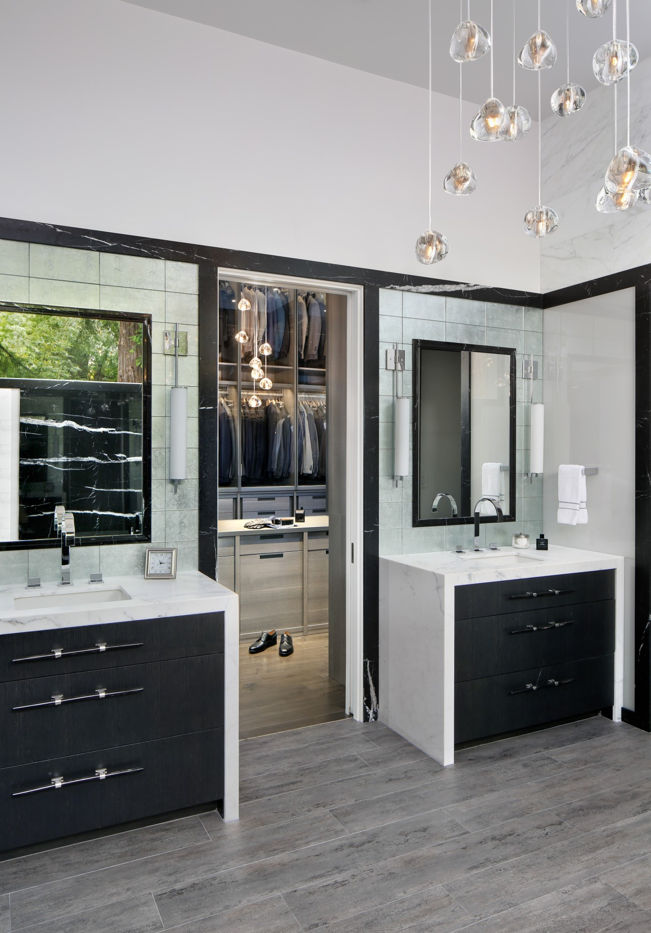 As part of a whole bathroom renovation by countertop, floor, flooring, home appliance, interior design, kitchen, gray