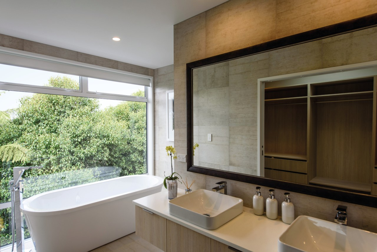 Who the bathroom is for and how it architecture, bathroom, house, interior design, real estate, room, window, gray, brown