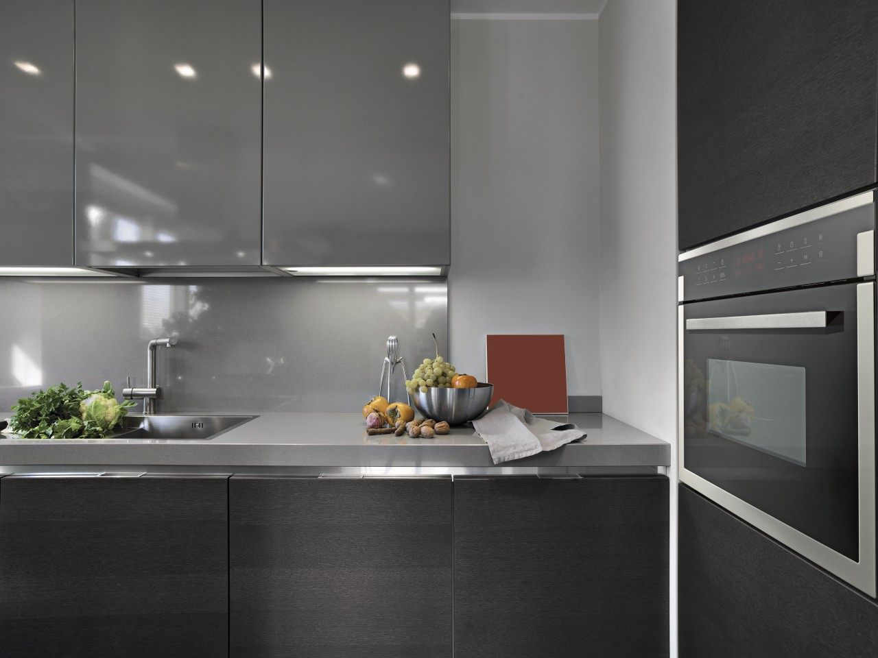 Clean-lined appliances from Midea can transform the look countertop, home appliance, interior design, kitchen, product design, under cabinet lighting, gray, black