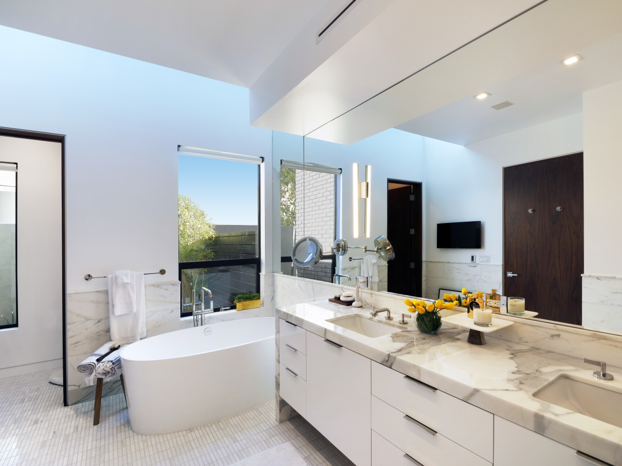 Natural light streams into this new master ensuite architecture, countertop, interior design, kitchen, real estate, room, gray