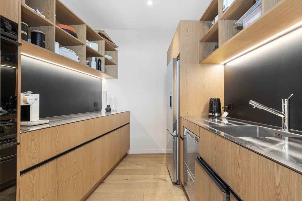 The scullery is effectively a full second kitchen