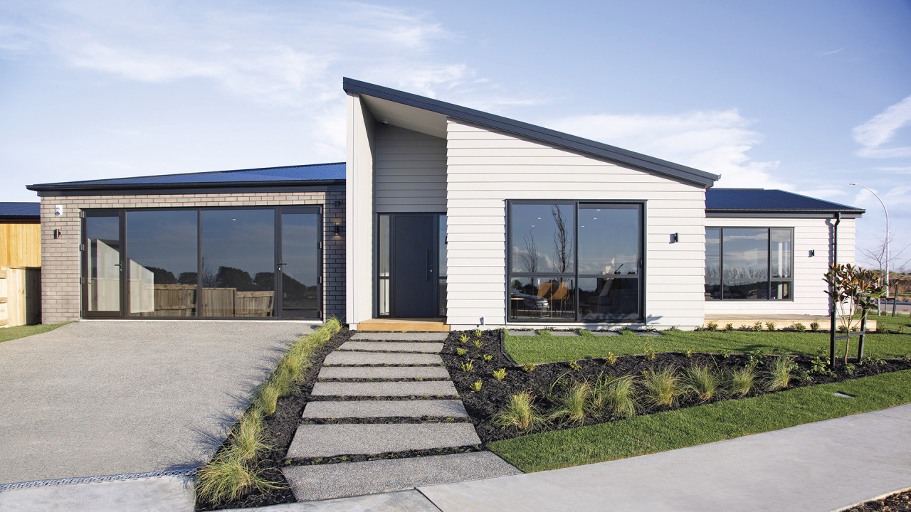This showhome is a show stopper! Classic cladding
