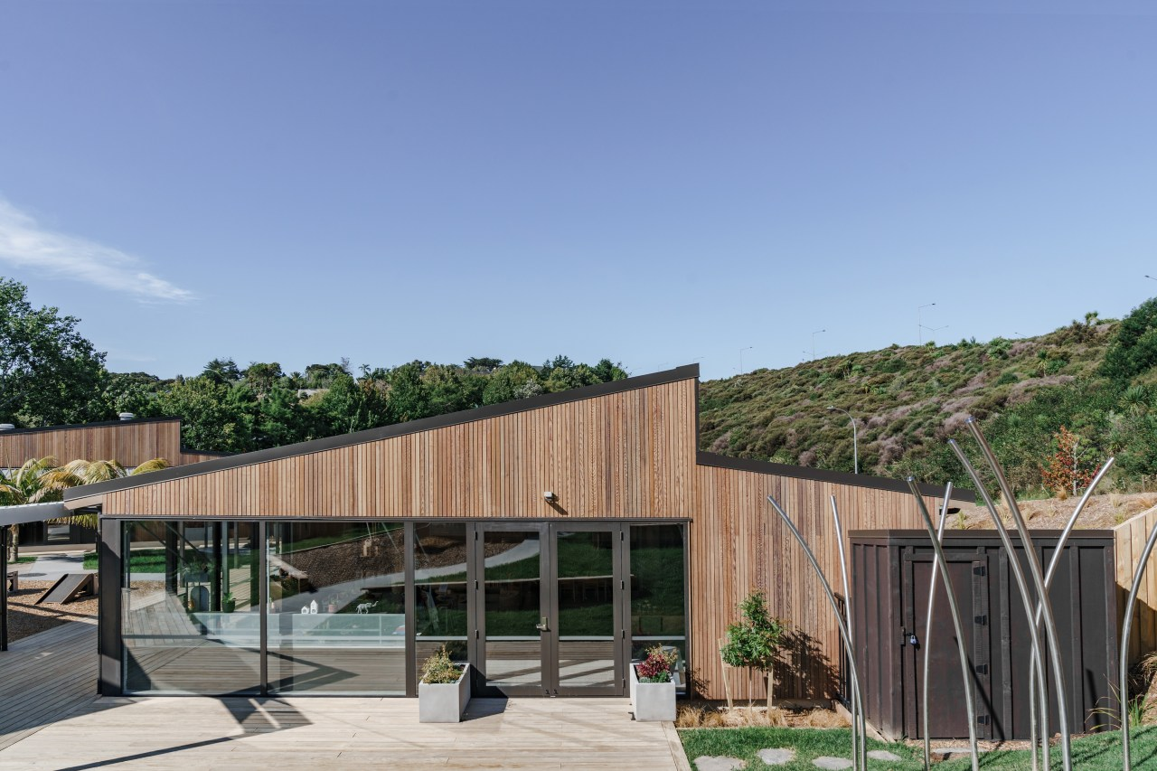 External elevation of Building C. - New pre-school