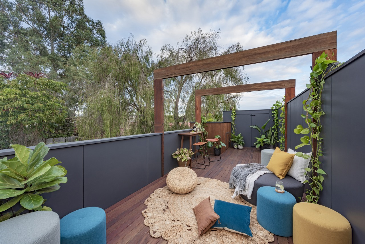 Up on the roof – a roof terrace