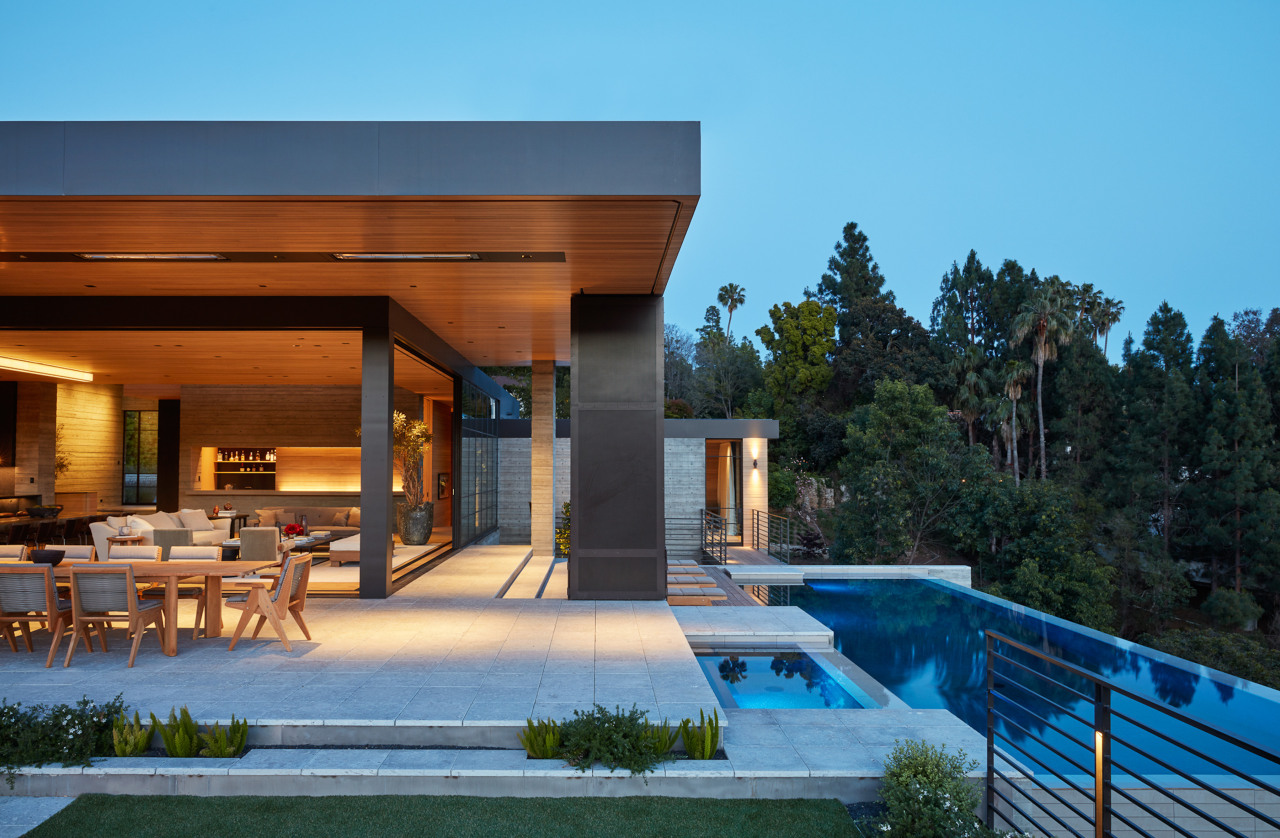 The home offers the ultimate in indoor-outdoor connections.