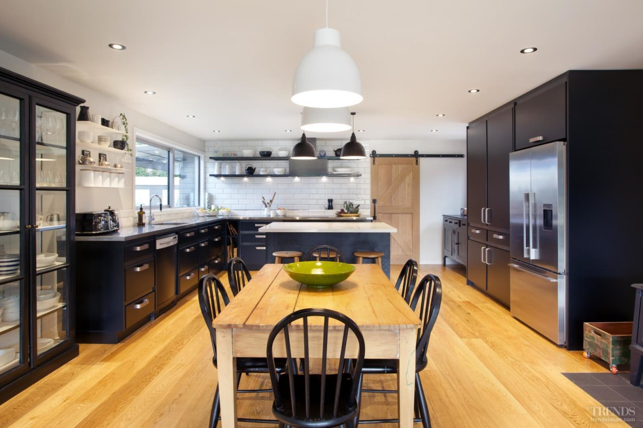 The existing kitchen in this 80-year-old farmhouse was countertop, interior design, kitchen, real estate, room, gray
