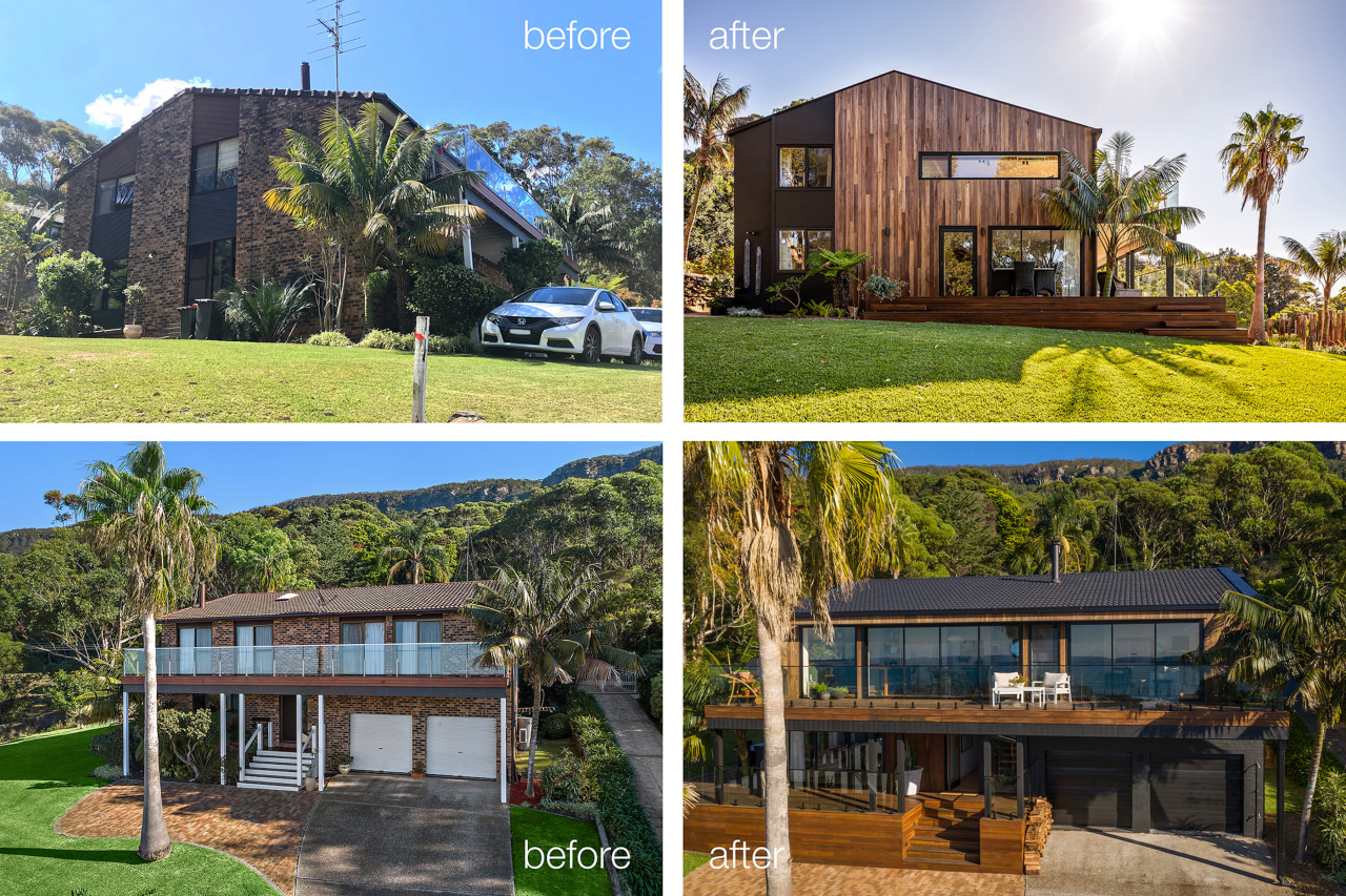 The home's cladding finishes have been radically reconsidered