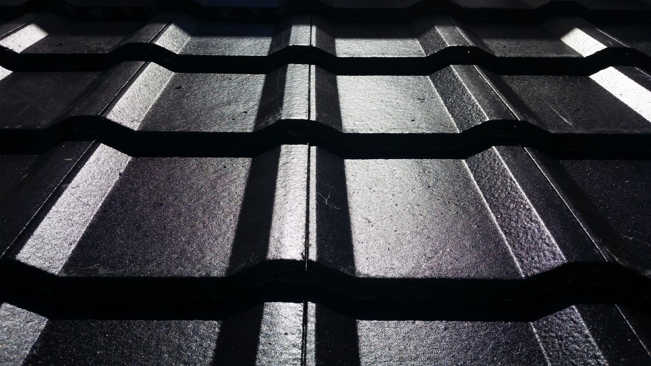 PERSPECTIVE concrete tiles in colour Sambuca angle, black, black and white, daylighting, design, light, line, metal, monochrome, monochrome photography, pattern, structure, symmetry, black