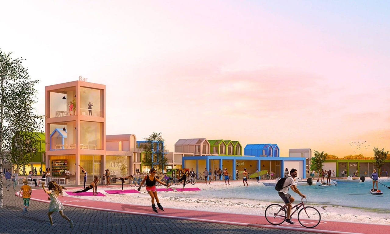 Residents of Sweaty Betty's future town would live