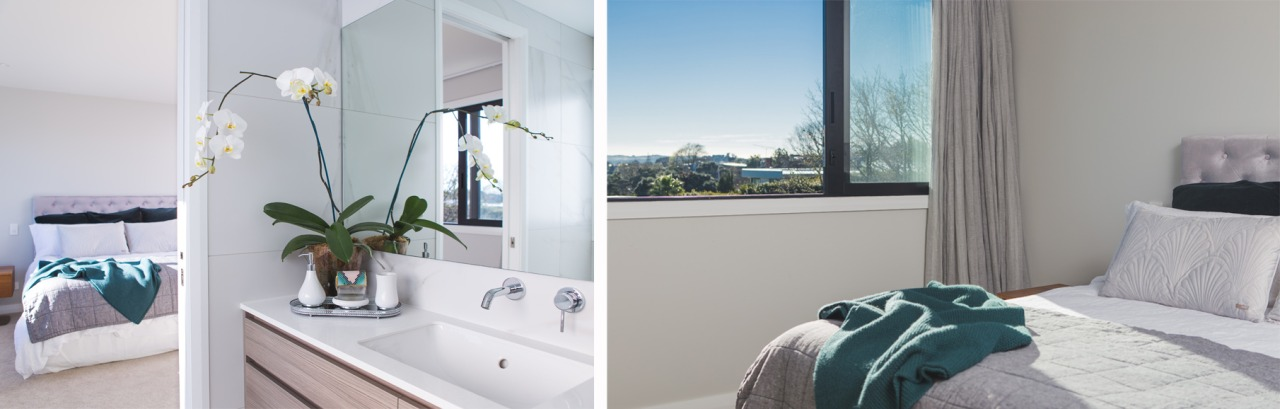 Internally the bedrooms and bathrooms have been elegantly