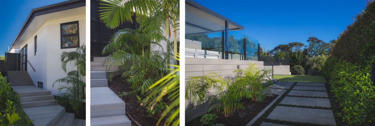 Pale cladding tones let the lush environment draw