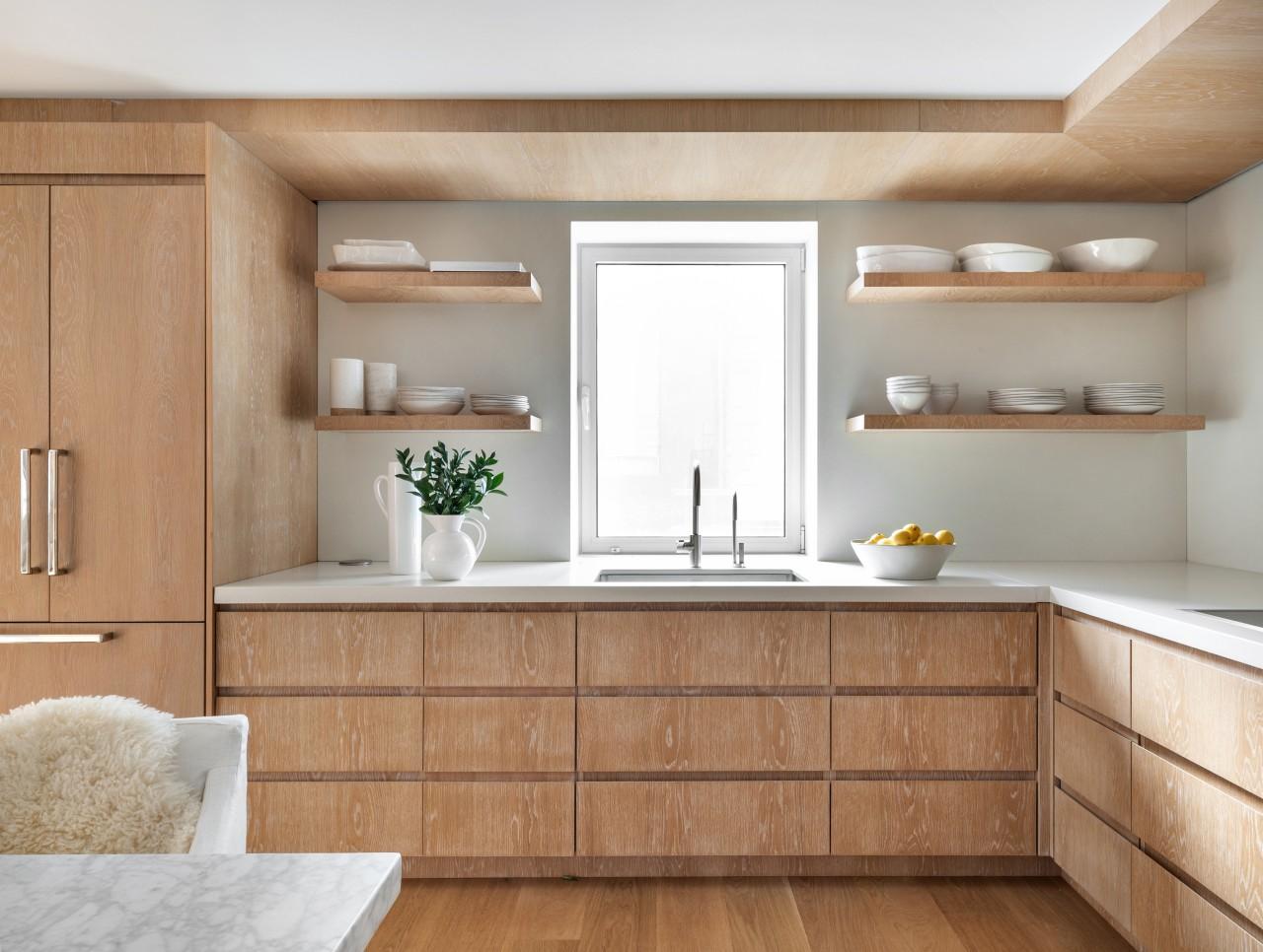 A kitchen window ensures plenty of natural light