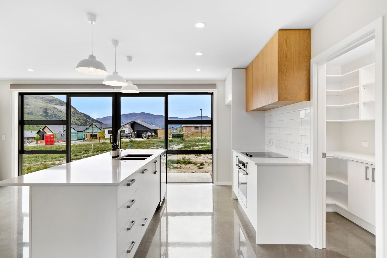 The home's modern kitchen with butlers pantry and