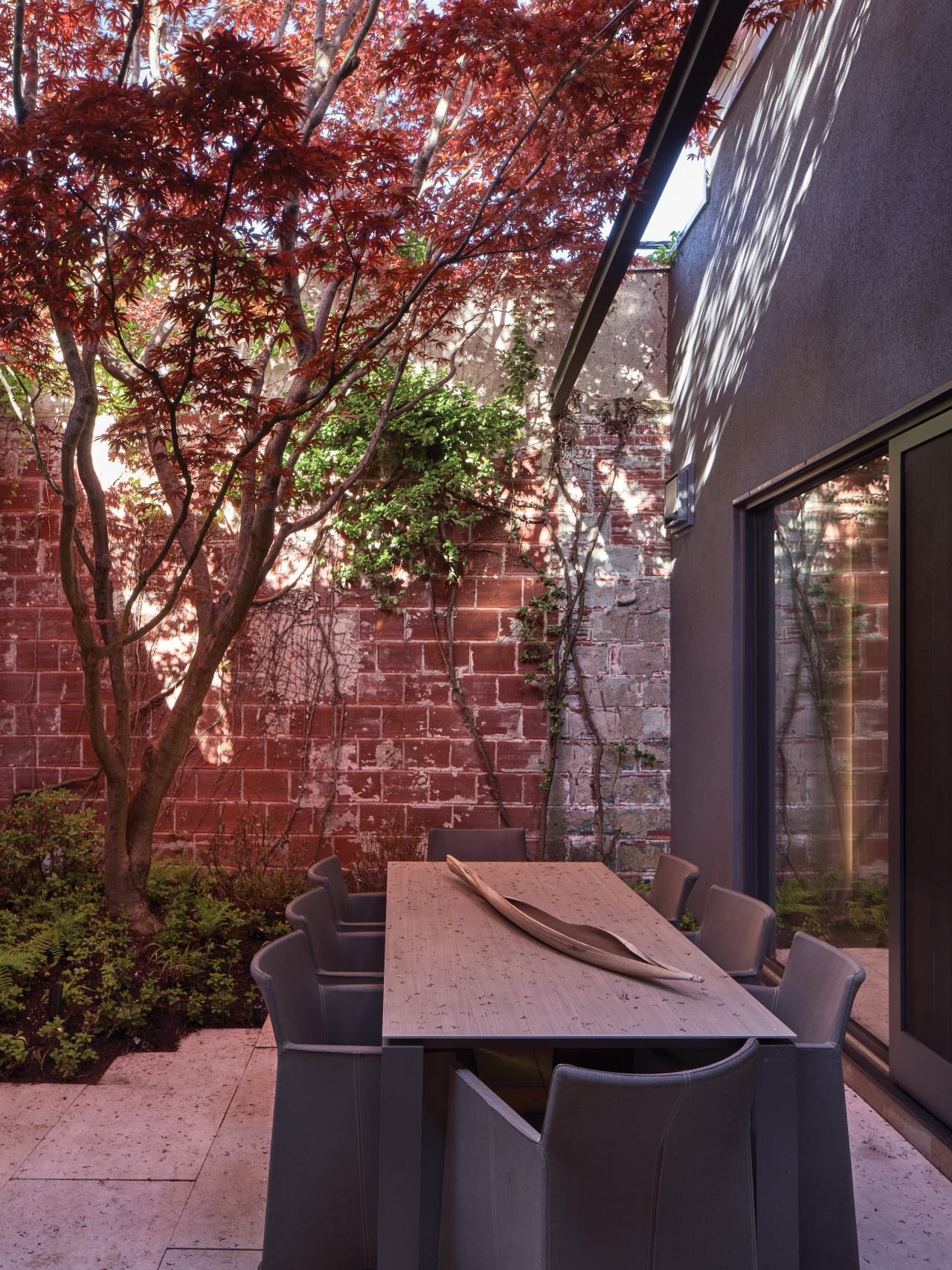 The Ivy-clad landscaped courtyards are a feature of