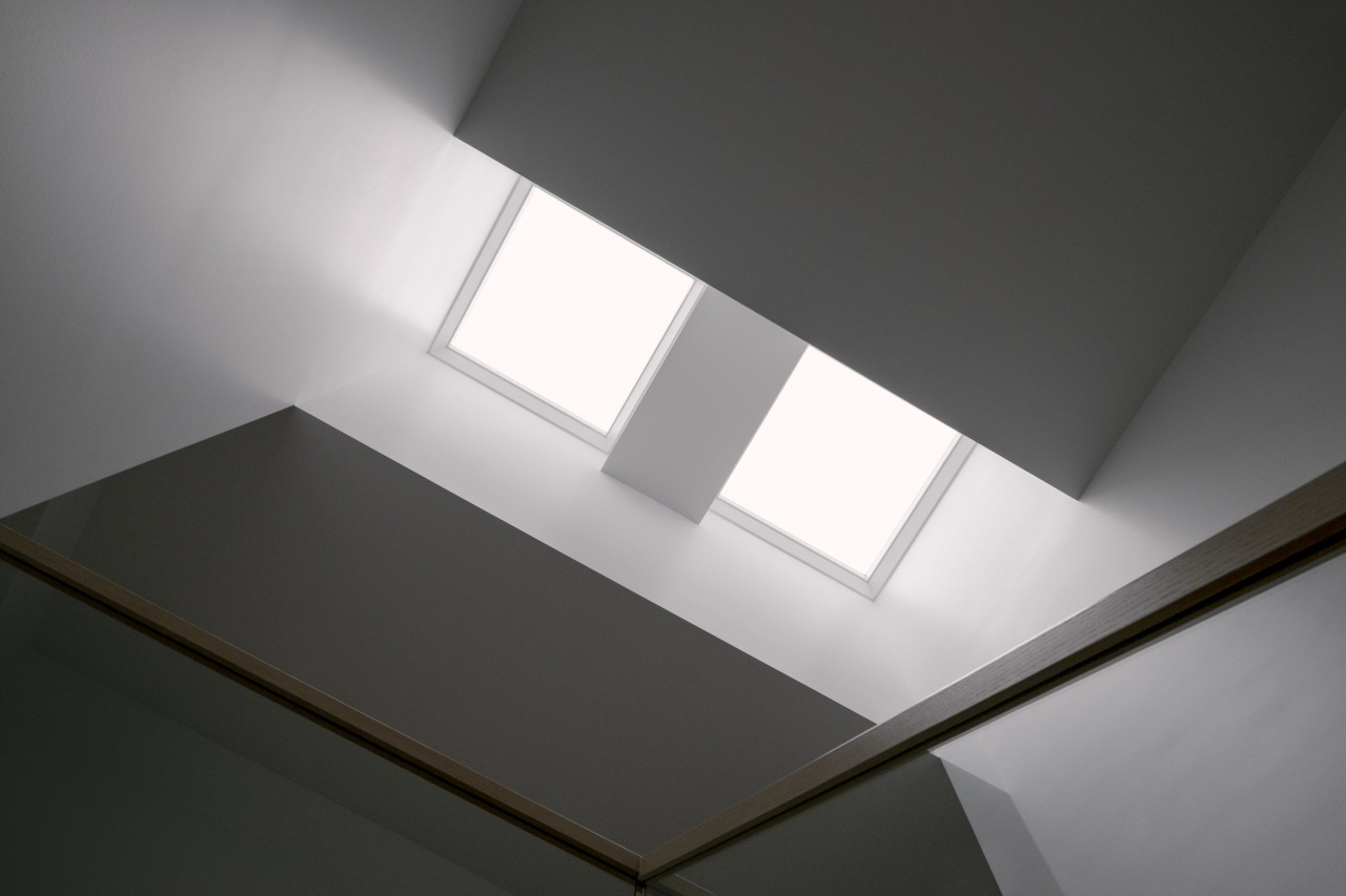 The light from the light shaft penetrates down