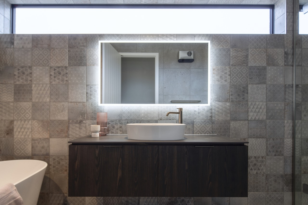 A feature tile adds pattern and tonal diversity