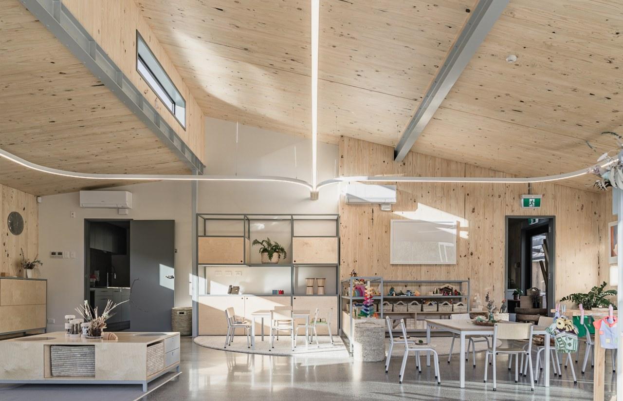 A lofty preschool room in Building C. -