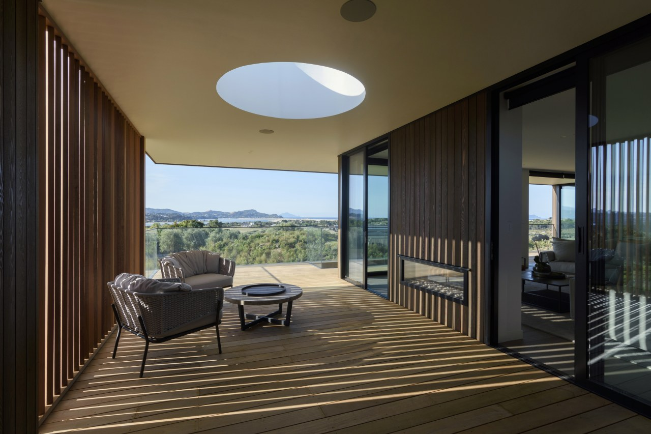 In windy environments, outdoor rooms with walls on