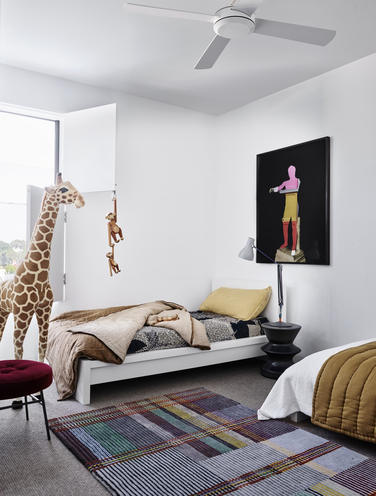 Even a real giraffe might not have to