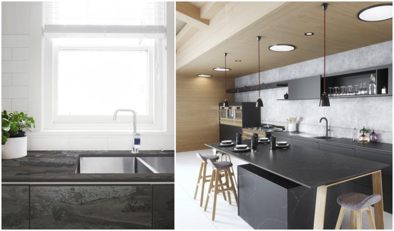 Dekton benchtop by Cosentino architecture, countertop, floor, home, interior design, kitchen, white