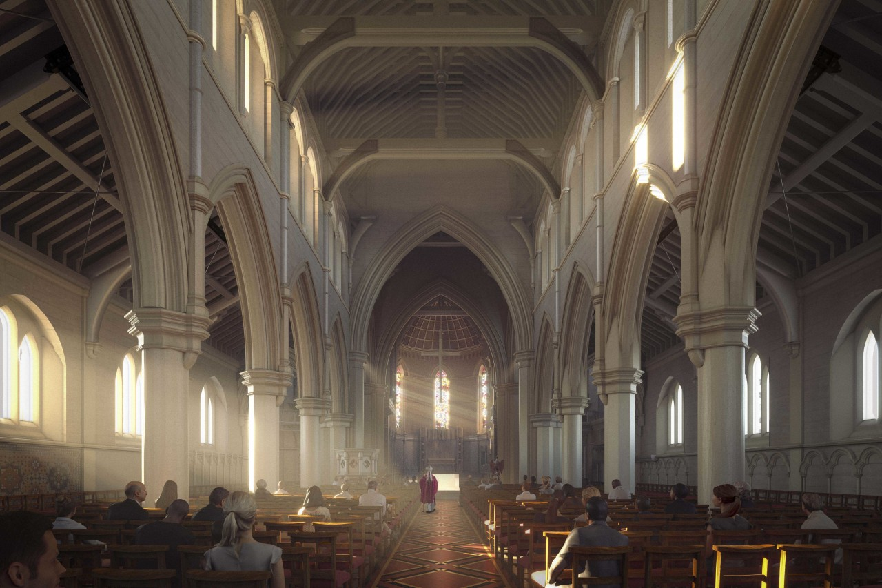 The cathedral will look very similar, retaining many