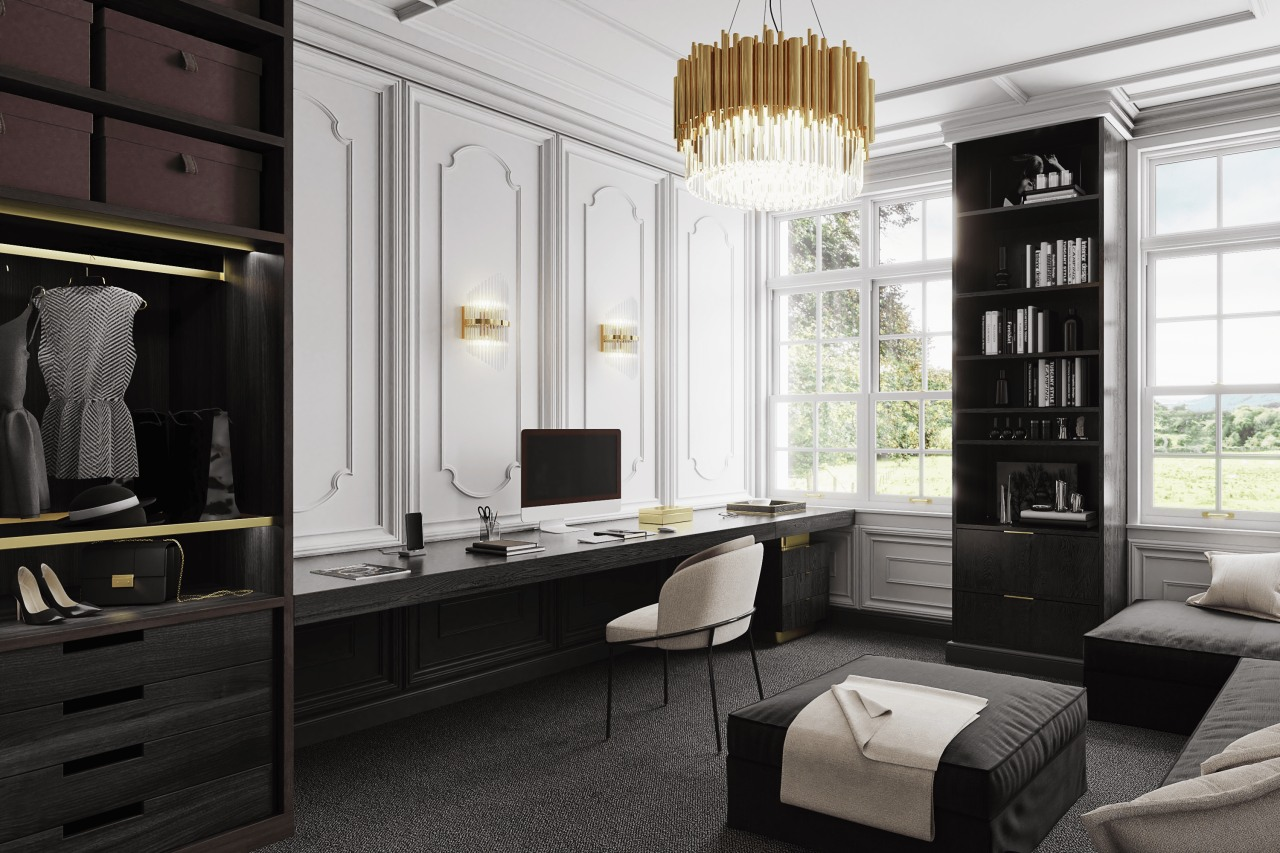 A home office inspired by Coco Chanel fashion