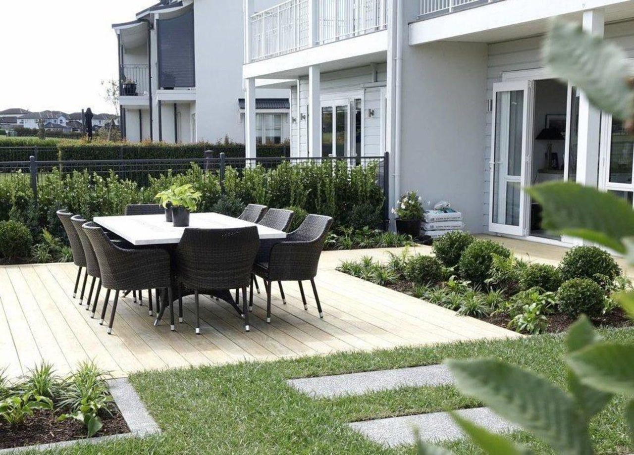 Your outdoor space should in all ways, look white