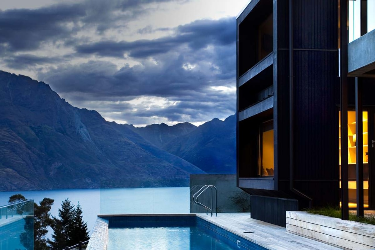 Hillery Taylor Architecture View - architecture   estate architecture, estate, home, house, property, real estate, reflection, sky, swimming pool, water, window, blue, black