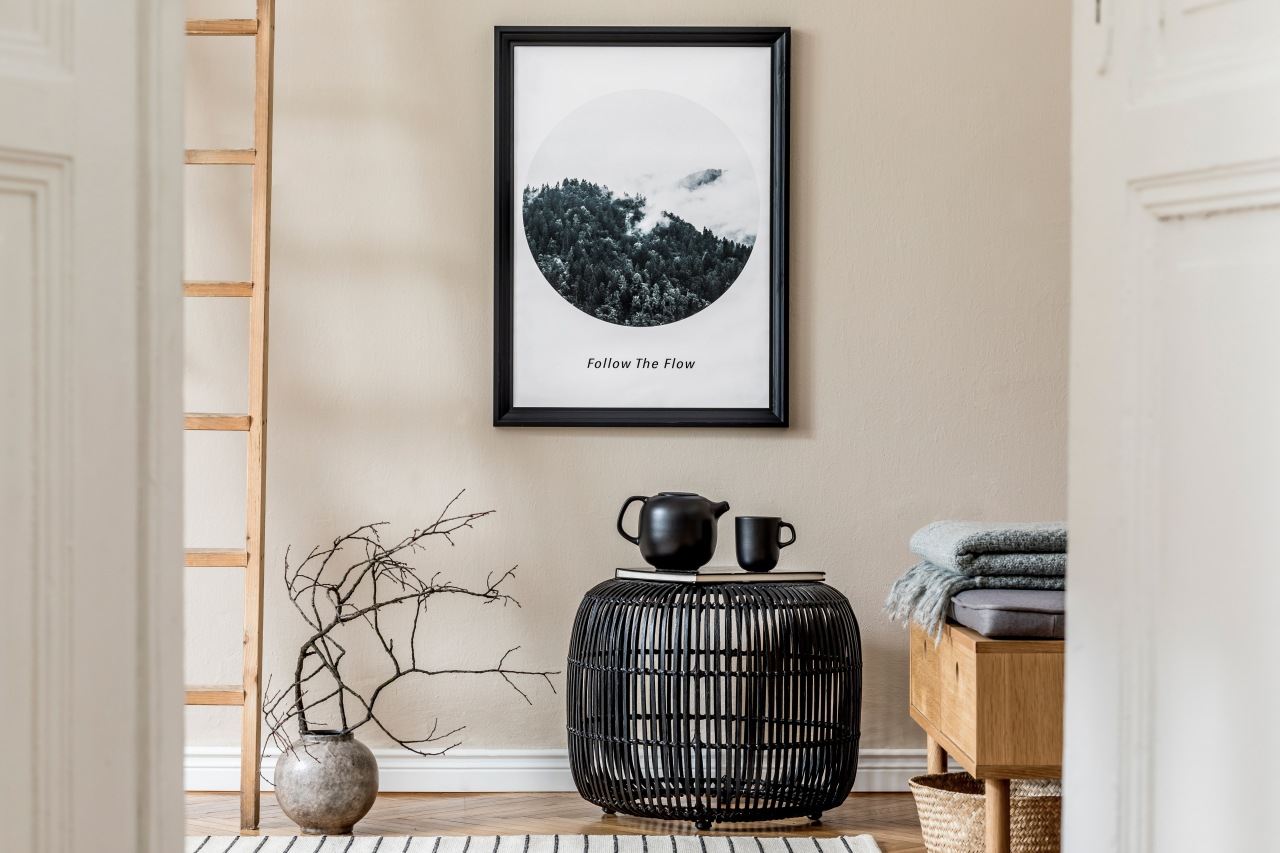 Natural materials and muted tones – a restful