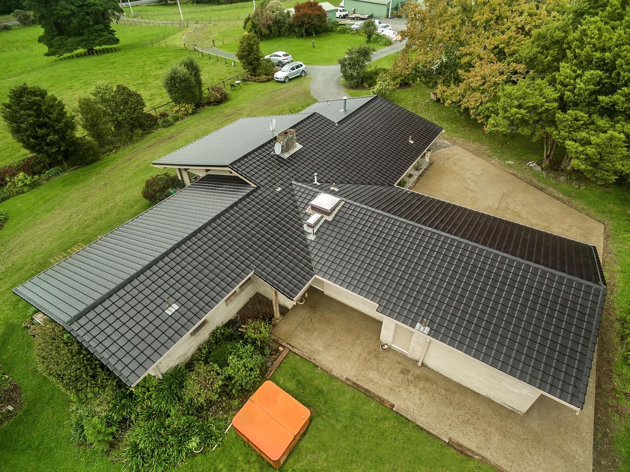 Kahikatea Flat Rd 1405 Monier 4 - energy energy, house, real estate, roof, solar energy, solar panel, solar power, brown