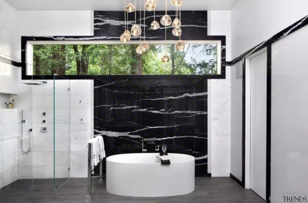 See more of this bathroom hereDesigned by floor, interior design, living room, room, wall, gray