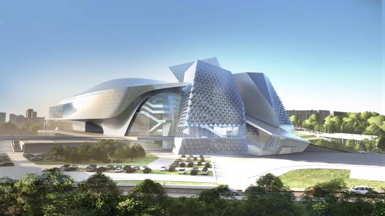 The cultural centre is a spectacular sculpture in