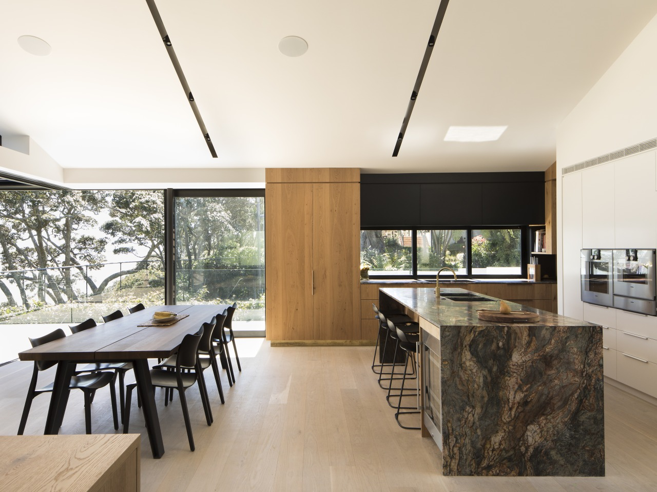 Marble benchtop. Kitchen design by Lloyd Hartley Architects architecture, ceiling, house, interior design, real estate, white