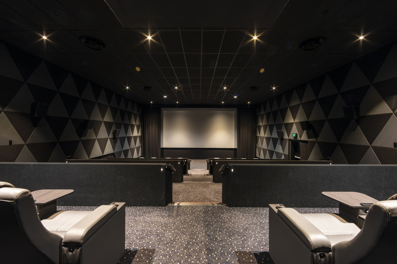 Temperzone air-con units were specified for Hoyts at architecture, ceiling, interior design, lobby, temperzone, air conditioning, Hoyts, EntX, seating, screen