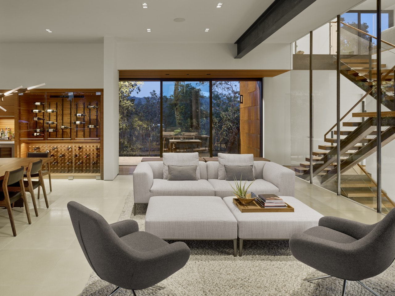 Simply reconfiguring your furniture can bring a world architecture, coffee table, couch, design, floor, flooring, furniture, home, house, interior design, living room, table, de Vito Architecture + Constrcution