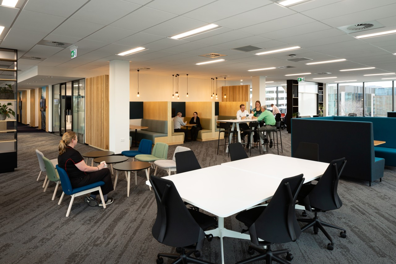 The Westpac head office in Christchurch has a architecture, furniture, interior design, office, Westpac Head Office, workplace, meeting rooms, Jasmax