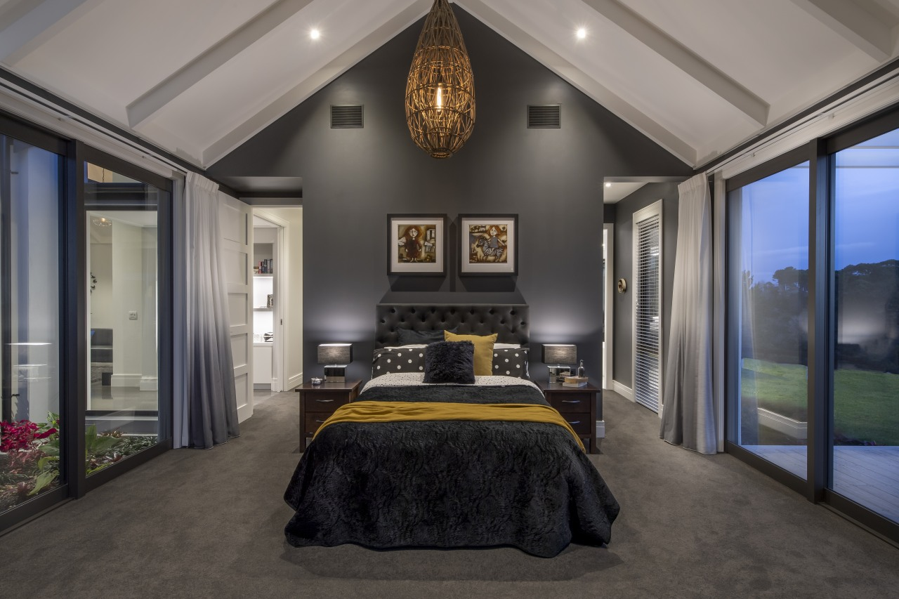 Tall, dark and handsome – this feature wall