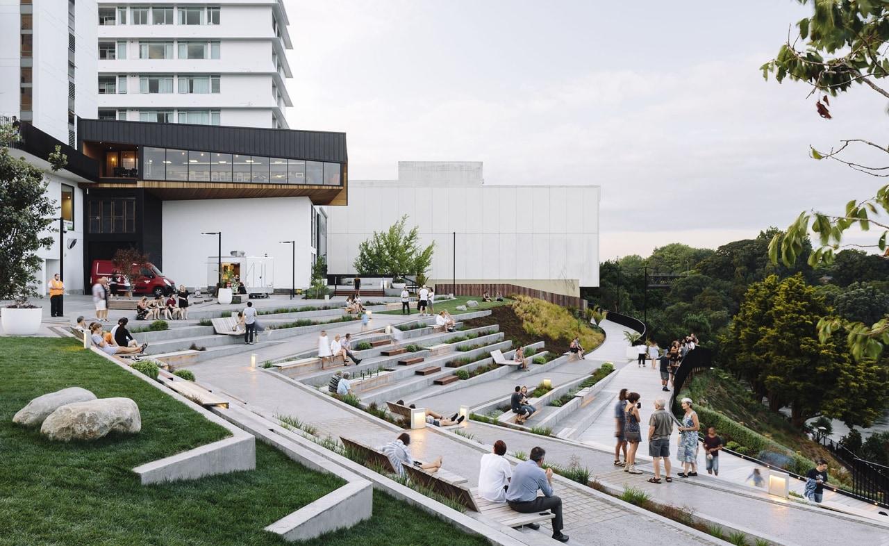 'Victoria on the River, Hamilton' by 'Edwards White architecture, condominium, mixed use, residential area, urban design, white